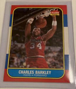 1986 Fleer Charles Barkley #7 Basketball Card
