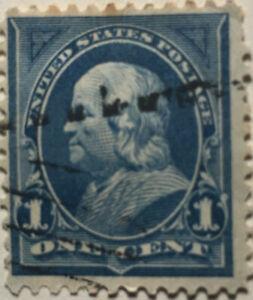 Scott-264-US-1895-1-Cent-Ben-Franklin-Postage-Stamp-LH