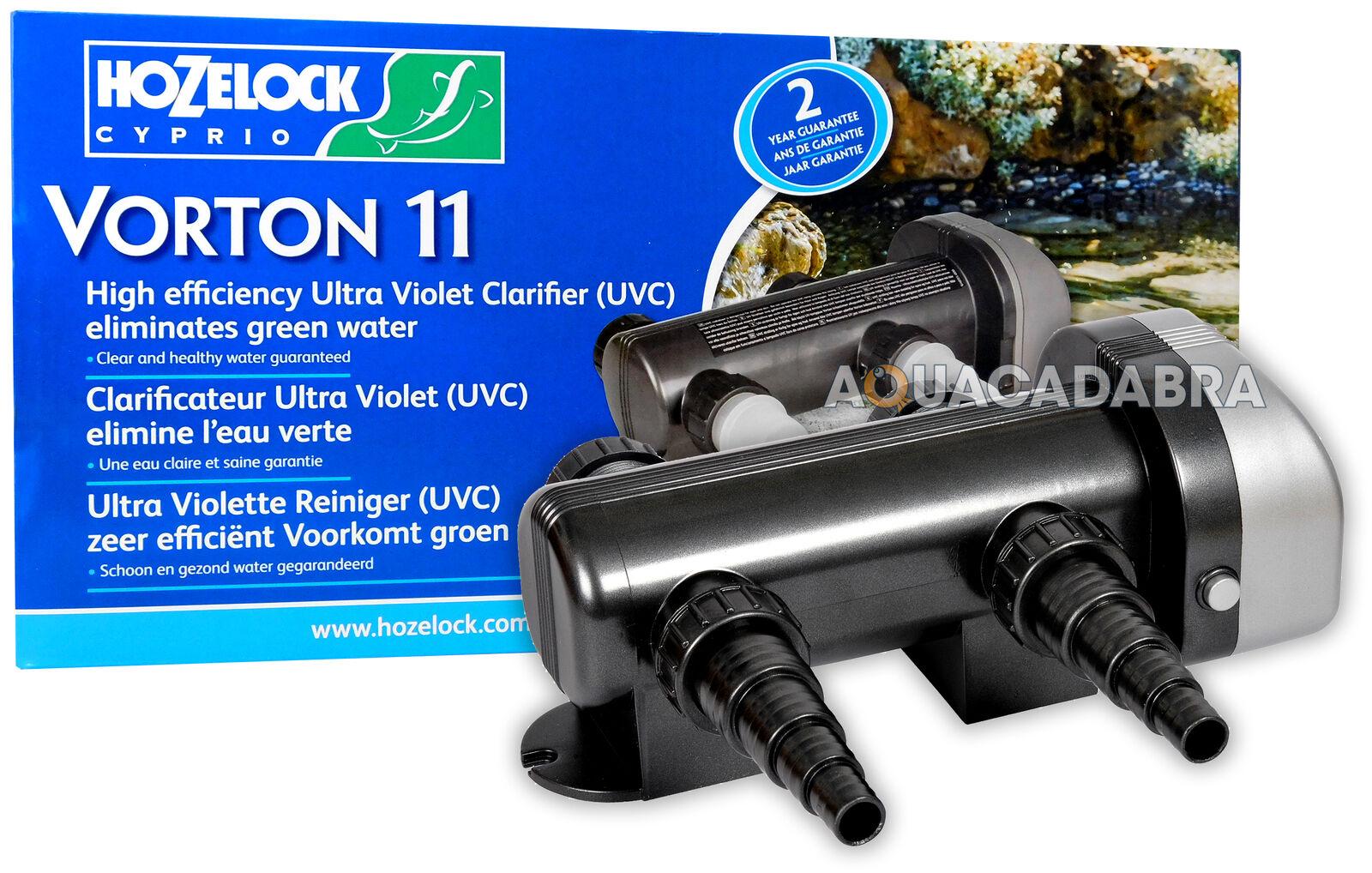 HOZELOCK Cyprio VORTON 11w, 18w, 36w, 55w giardino acqua stagno di Koi Fish UV UVC