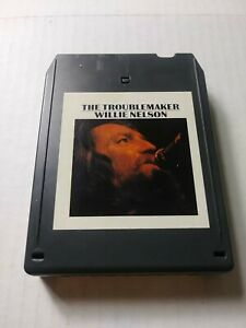 THE TROUBLEMAKER, WILLIE NELSON, 8-TRACK STEREO TAPE CARTRIDGE, COLUMBIA TC8