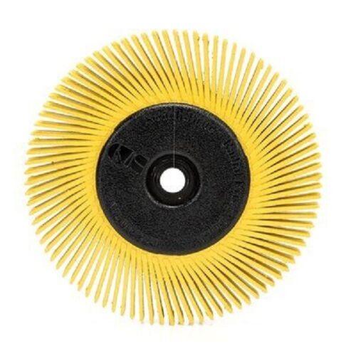 "5 Each 3M Scotch-Brite 6/""x1//2/""x1/"" 80 Grit Radial Bristle Brush w// Adapter 27606"