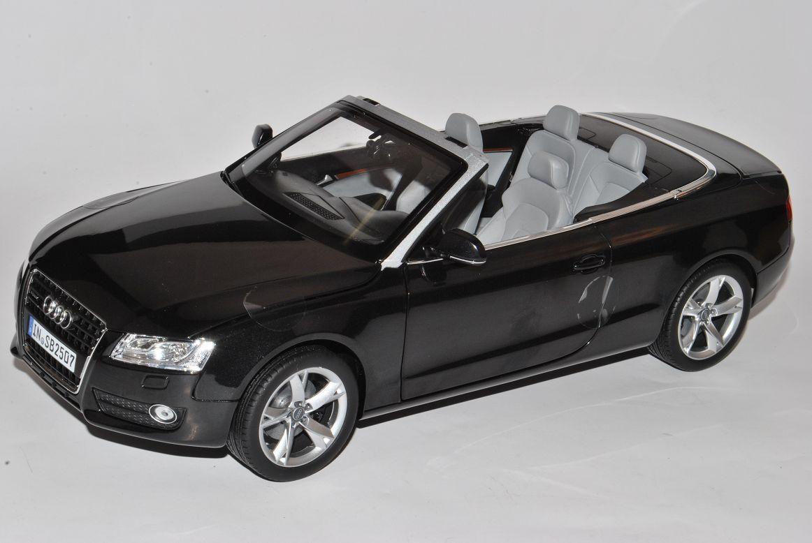 Audi A5 Cabrio black 2007-2011 Vor Vor Vor Facelift 1 18 Norev Modell Auto mit oder .. 313669