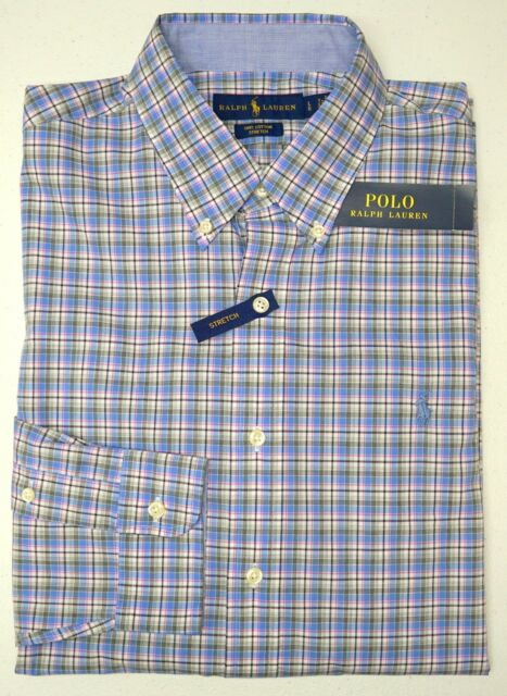 NWT $89 Polo Ralph Lauren Long Sleeve Shirt Mens Size L Blue NEW 100/% Cotton