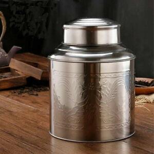 Boite-en-Acier-Inoxydable-Avec-Double-Paupiere-Caddy-Lache-the-Contenant-300-ml