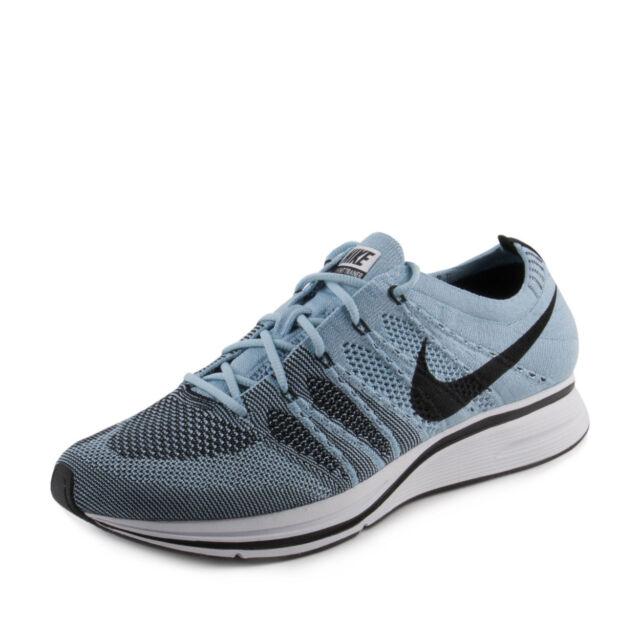 7da4bb7dbdde3 Men s Nike Flyknit Trainer Cirrus Blue Black White Ah8396 400 Size ...
