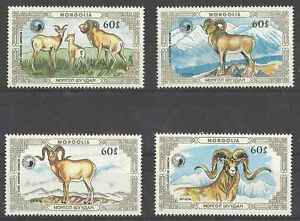 Timbres-Animaux-Mongolie-1508-11-lot-1811