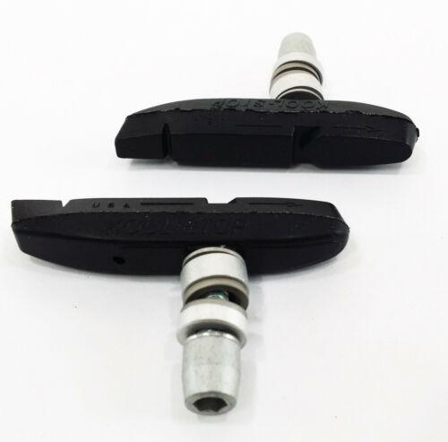 Threaded Dry-Weather Black Kool-Stop Supra 2 Bicycle Brake Pads