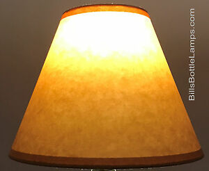 Rustic-Cottage-Table-Light-LAMP-SHADE-Oil-Kraft-Clip-On-Bulb-Style-9-034-inch-Cone