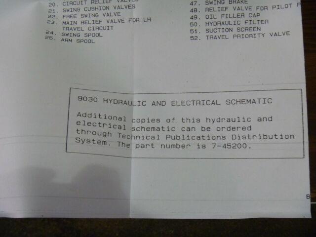 Case 9030 Excavator Hydraulic Electrical Wiring Diagram