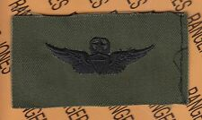 US Army Master Pilot Aviation Flight OD Green Black BDU badge cloth patch