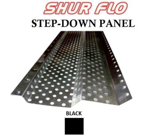 "5/"" Alum Shur-Flo Gutter Guard Covers White Bronze Mill By the Piece Black"