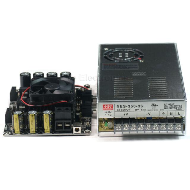 2 X 300W Class D Audio Amplifier TAS5630 w Mean Well 36V 350W Power Supply