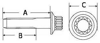 Schmidt OZ NEU 144 Felgenschrauben M7x32 mm Chrom verchromt Schrauben BBS RH