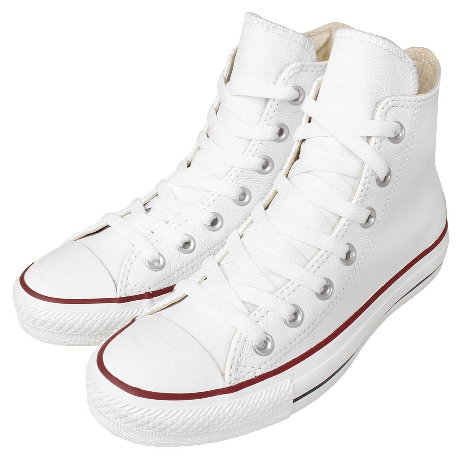 Converse All Chuck Taylor All Converse Star HI Blanco Leather Hombre Mujer Classic Zapatos  132169C ea8c8a