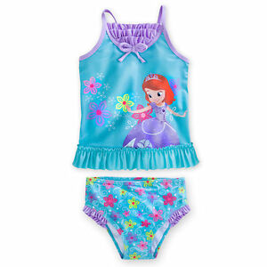 Disney Store Princess Sofia The First 2 Piece Swimsuit Girl Size 56