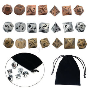 7Pcs-set-Metal-Polyhedral-Dice-Role-Playing-Game-For-Dungeons-amp-Dragons-With
