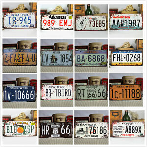 Image Is Loading Vintage Metal Car Decorative License Plate United States