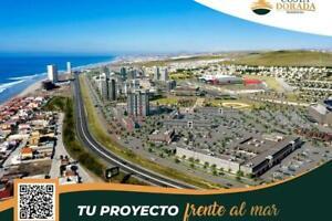 Venta de terrenos de uso comercial en Rosarito BC con hermosa vista al mar, por la carretera escé...