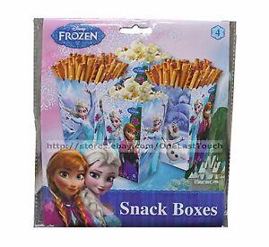 DISNEY FROZEN 4pc Set SNACK BOXES Party Supplies/Decoration PARTY ...