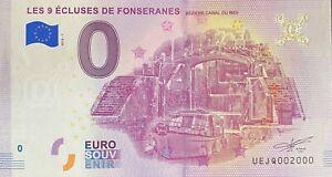 BILLET-0-EURO-LES-9-ECLUSES-DE-FONSERANES-FRANCE-2018-NUMERO-2000