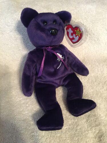 PRINCESS DIANA the Purple Teddy Bear 1997 -RETIRED MWMTs MINT TY Beanie Baby