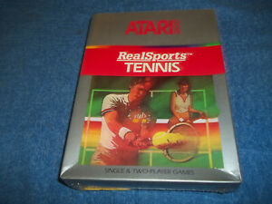 NEW-NOS-ATARI-2600-REALSPORTS-TENNIS-GAME-IN-FACTORY-SEALED-amp-S-W-BOX-7800