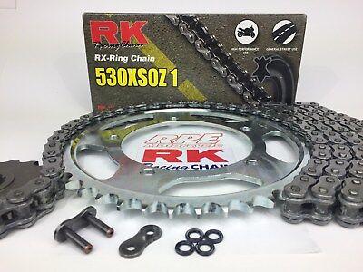 Gold O-Ring Drive Chain /& Sprockets Kit Fits SUZUKI GSX600F Katana 600 1992-1997