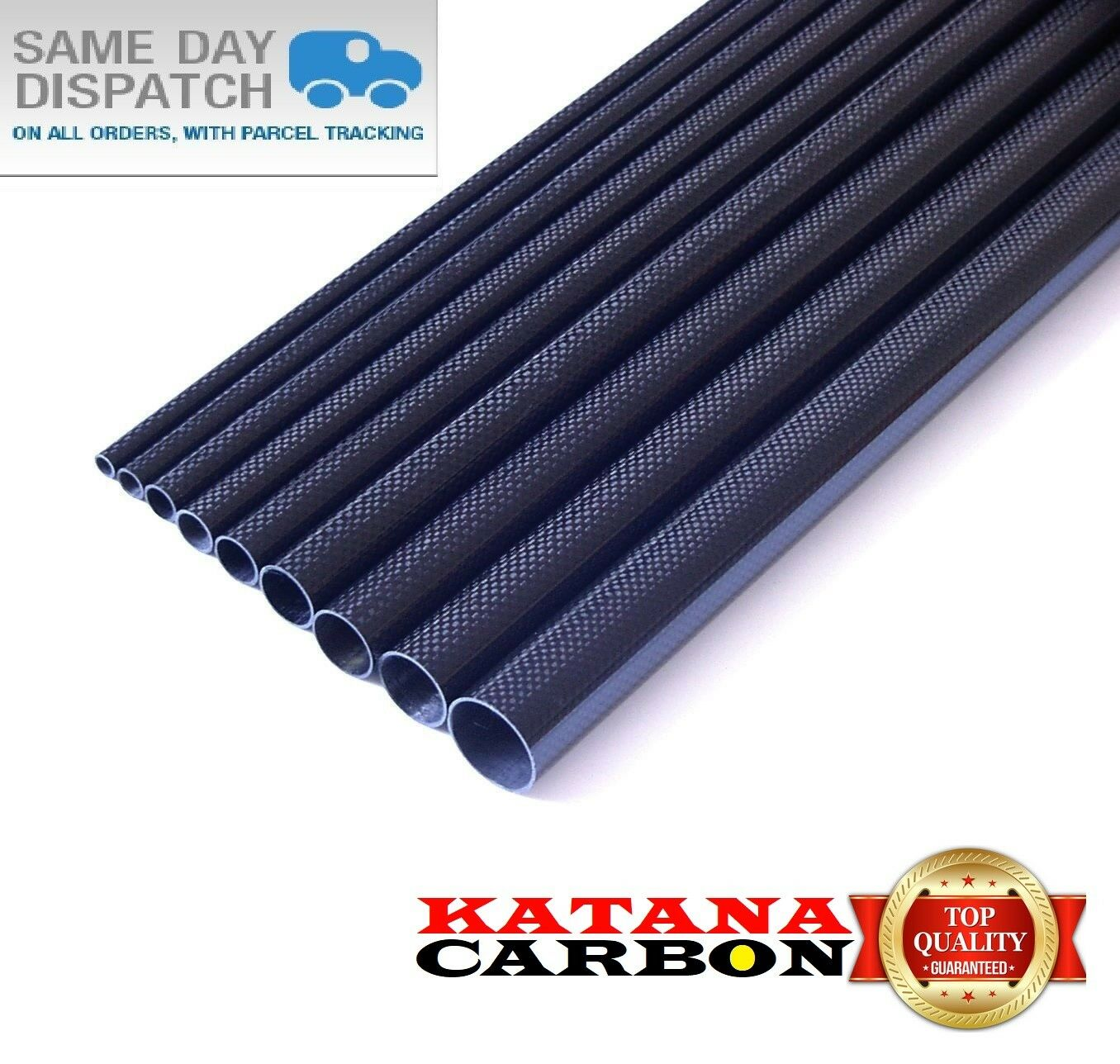 1 x OD 32mm x ID 30mm x 1500mm (1.5 m) 3k Carbon Fiber Tube (Roll Wrapped) Fibre