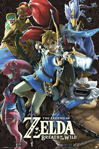 Details about ZELDA BOTW DIVINE BEASTS 24x36 POSTER NEW GAMER GAMING  NINTENDO SWITCH WEE LINK!