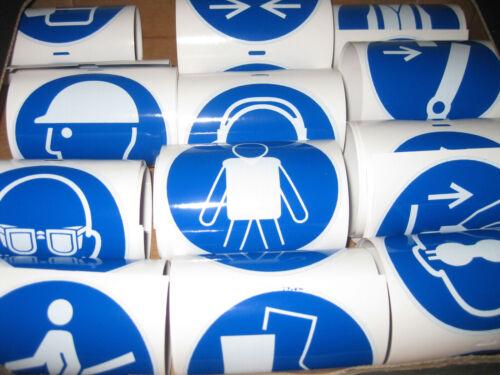 Aufkleber Gebote nach DIN EN ISO 7010 ca.100mm aus hochwertiger Vinylfolie
