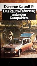 Prospekt 1976 Brochure Renault 14