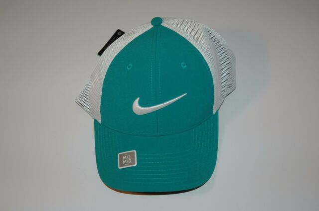 688a4ae1d01 Nike Golf Legacy 91 Tour Mesh Fitted Golf Hat Cap 727031 Green Sz S M M