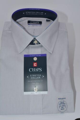 Men/'s Chaps Regular-Fit No-Iron Stretch Spread-Collar Dress Shirt New