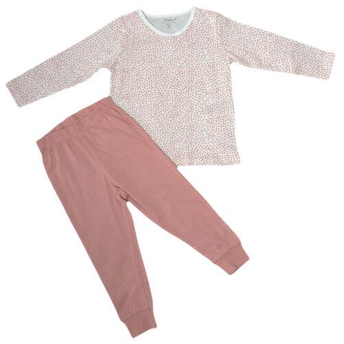 Name It PYJAMA Nightset Set Baby Mädchen Nightsuit Zweiteiler Schlafanzug Weiß