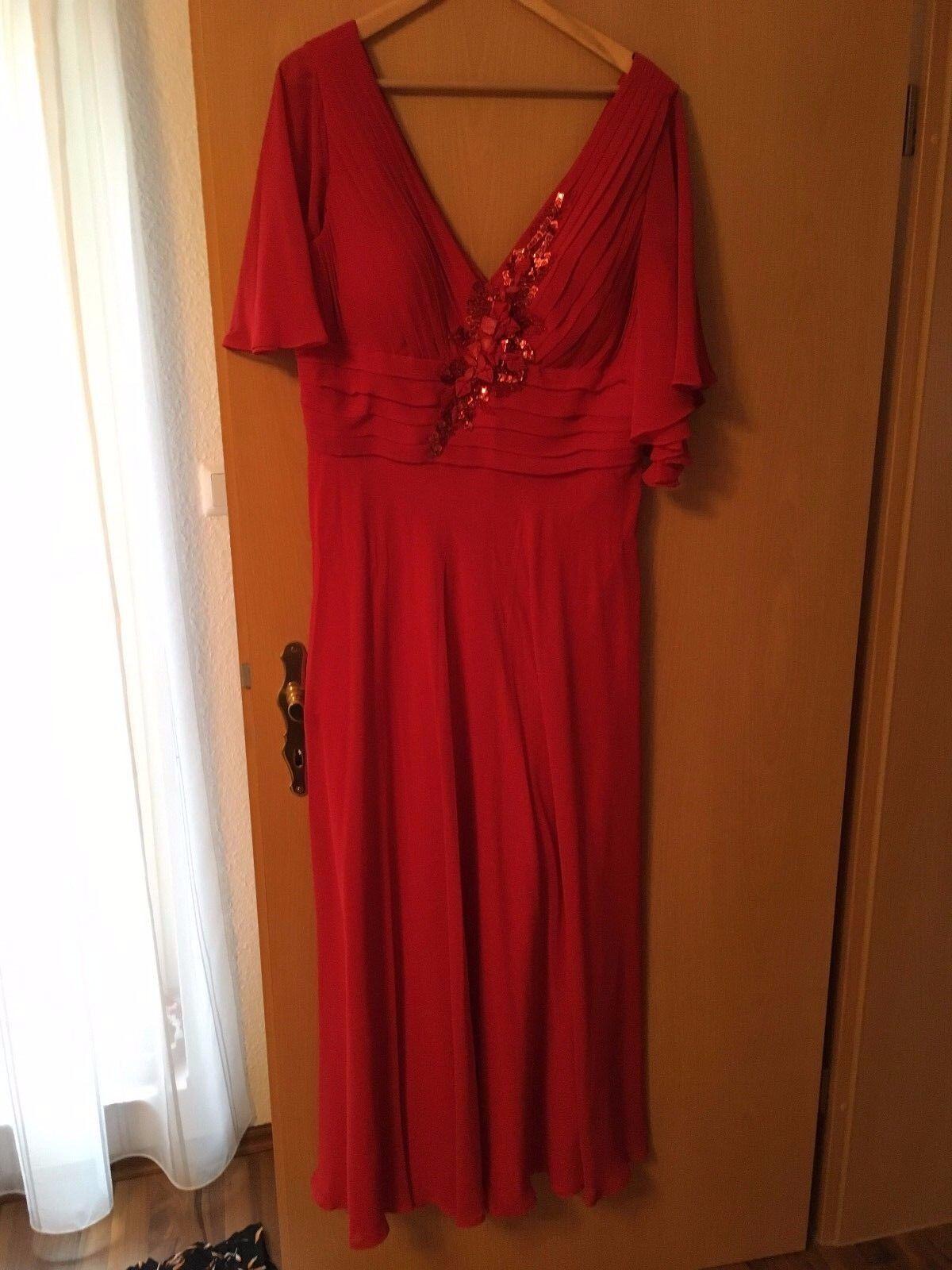 Abendkleid mit Stola  Gr. 44-46 Kleid Festkleid
