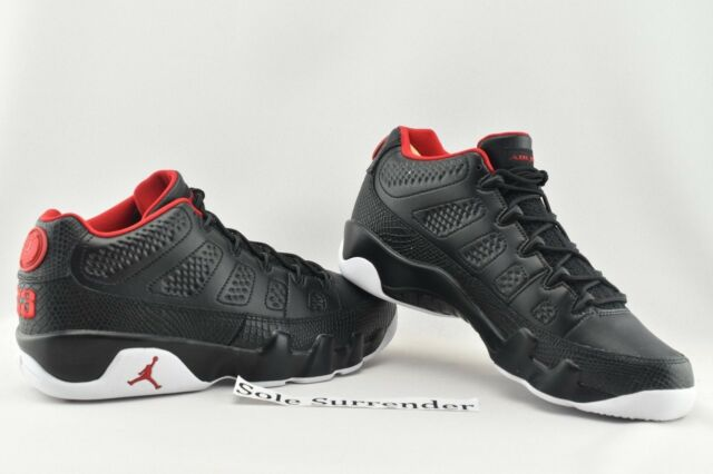 new arrival 186d8 c7d2c Air Jordan 9 Retro Low - CHOOSE SIZE - 832822-001 Snakeskin Bred White IX