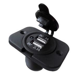 Eg dual usb charger socket 12 volt plug jack panel mount boat car image is loading eg dual usb charger socket 12 volt plug publicscrutiny Choice Image