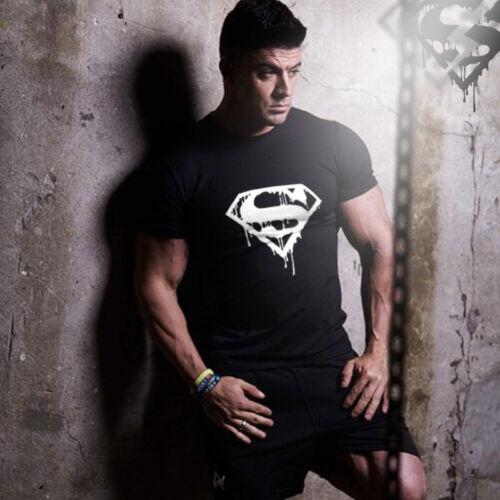Men Summer Gyms t-shirt male casual Fitness tshirt fashion Crossfit short sleeve