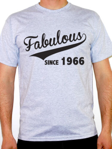 FABULOUS SINCE 1966 Birthday Gift Birth Year Novelty Themed Men/'s T-Shirt