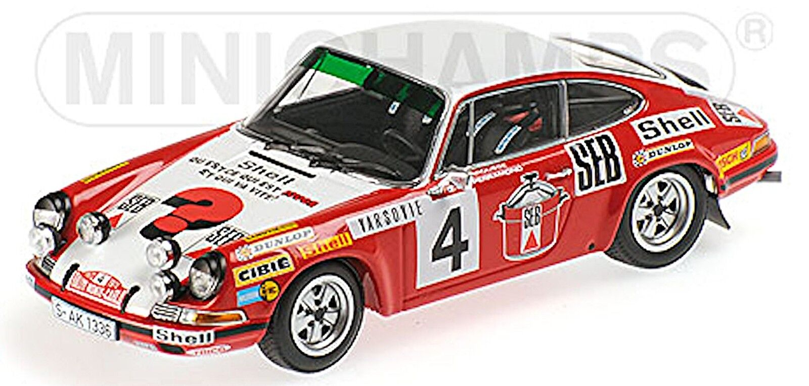 Porsche 911 s 2nd rallye monte carlo 1972 Larrousse perramond  4 - 1 43 Minicham