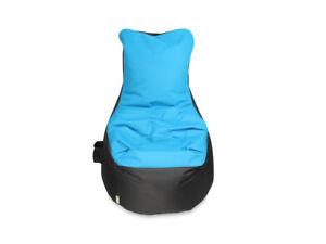 sitzsack bezug ohne f llung sessel mit lehne t rkis grau h90xb70xsitzh65 cm ebay. Black Bedroom Furniture Sets. Home Design Ideas