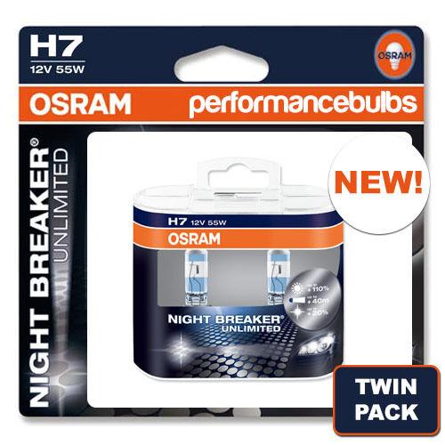 H7 OSRAM NIGHT BREAKER UNLIMITED AUDI A6 AVANT 05-11 FOGLIGHT BULBS