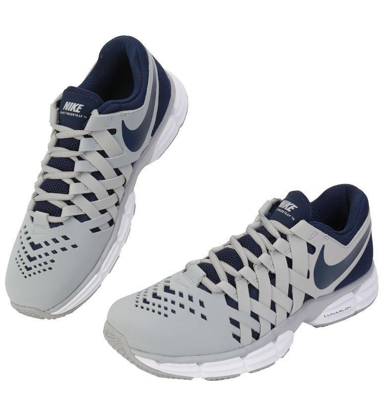 Nike Men's Lunar Fingertrap Tr Training Shoe grey and blue 898066 004 Size 9