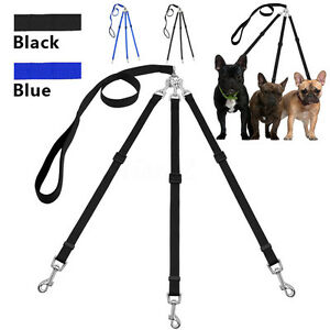 Durable Coupler 3 Way Dog Leash No-Tangle Triple Pet Leash Fit For Walking Dog