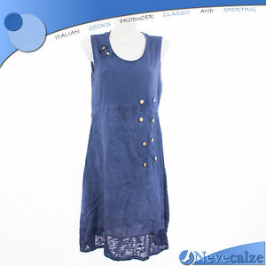 Abito donna estate etnico in fresco cotone// lino  vestito smanicato   7DEABI012