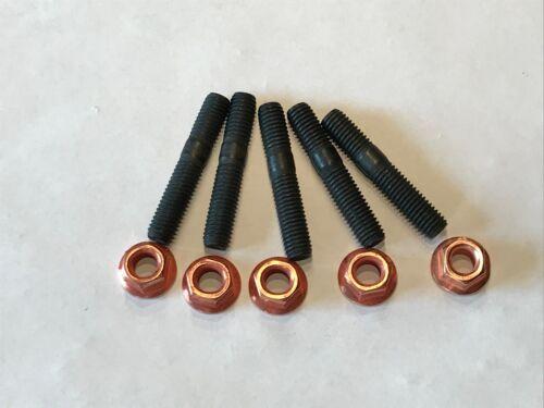 Kupfermutter M8 mit Bund SW12 M8x45 8 Stück Stehbolzen M8x46 8.8