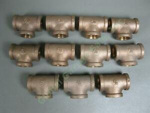 11-SA-Siam-Fittings-Co-Brass-1-2-034-Tee-LOT-Threaded-Female-Connector-Couplings-NR