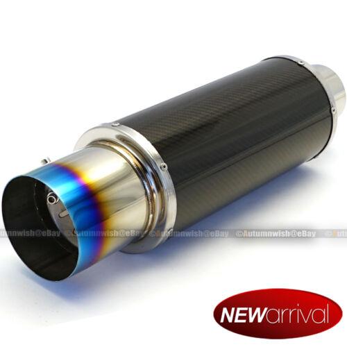 "Fit Impreza Carbon Blue Burn Flat 4/"" Tip 2.5/"" Inlet Axle Back Weld On Muffler"