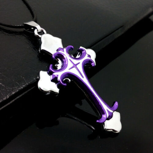 Unisex/'s Men Stainless Steel Cross Necklace Pendant Leather Chain Jewelry Gift
