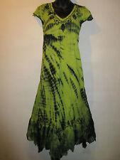 Halloween Garden Faerie Dress Fits XL 1X 2X 3X Plus Black Green Lace Hem NWT 663